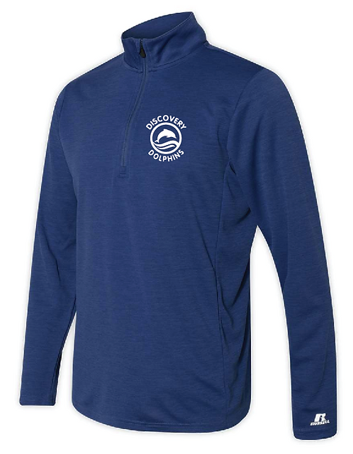 Russell Athletic - Striated Quarter-Zip Pullover - QZ7EAM • Royal