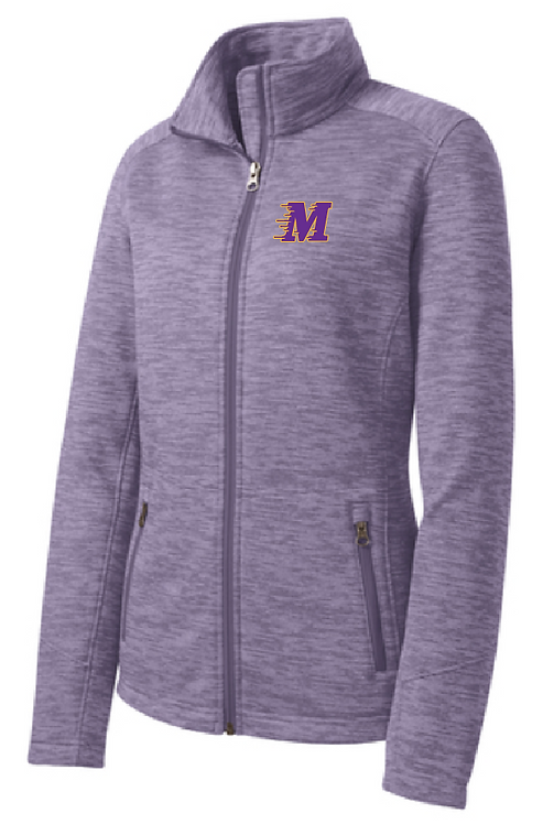 Port Authority® Ladies Digi Stripe Fleece Jacket • L231 • Purple