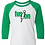 Thumbnail: Next Level - Youth CVC Three-Quarter Sleeve Raglan T-Shirt - 3352