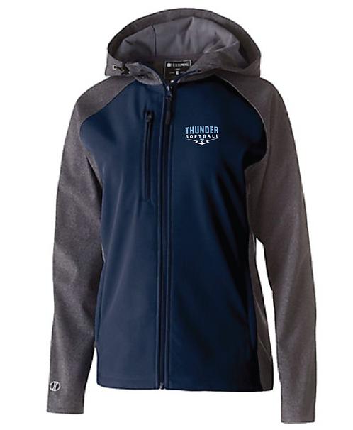 Holloway Ladies Raider Softshell Jacket • 29357 • carbon print/navy