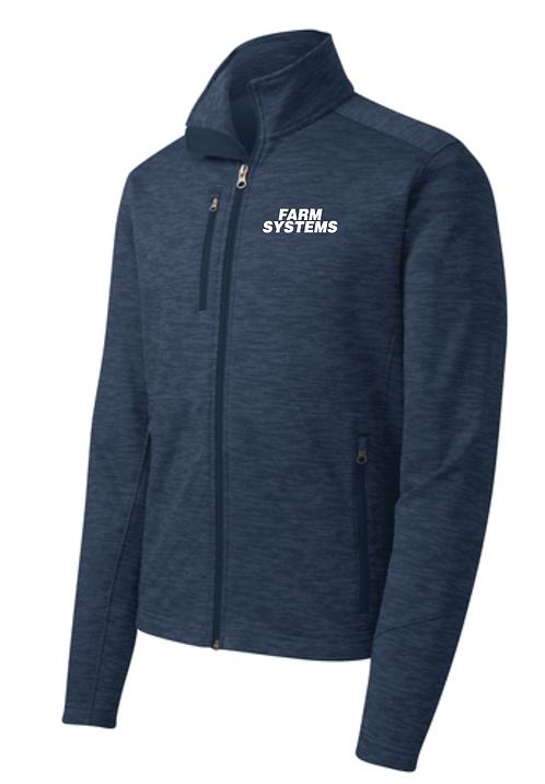 Port Authority® Digi Stripe Fleece Jacket •F231 • Navy
