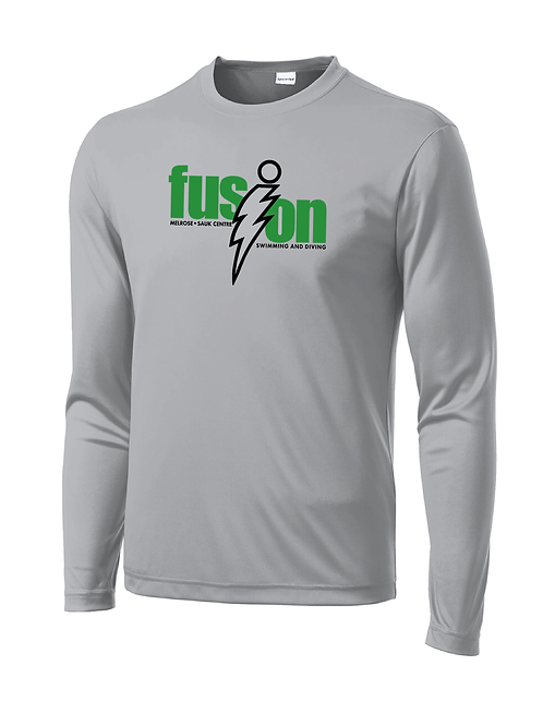 Sport-Tek® Long Sleeve PosiCharge® Competitor™ Tee Silver / Name on Back
