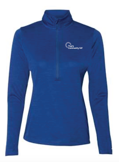 Russell Athletic - Women's Striated Quarter-Zip Pullover - QZ7EAX