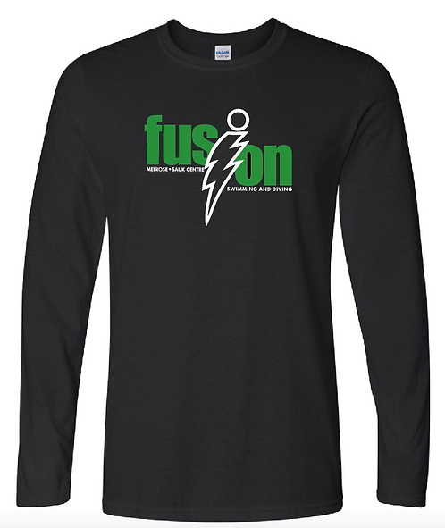 Gildan - Softstyle® Long Sleeve T-Shirt - 64400 • Black •with name
