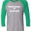 Thumbnail: copy of Next Level - Unisex Tri-Blend Three-Quarter Sleeve Baseball Raglan Tee -