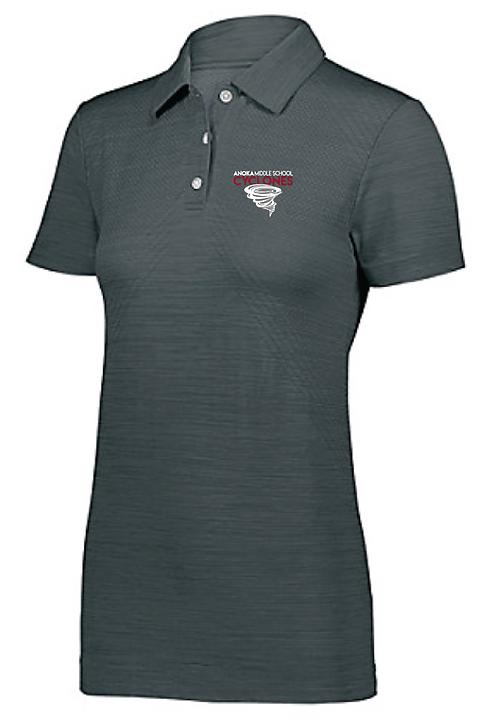 Ladies Striated Polo • 222756 • Graphite