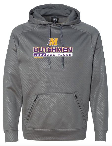 J. America - Volt Polyester Hooded Pullover Sweatshirt - 8670 • Graphite Volt