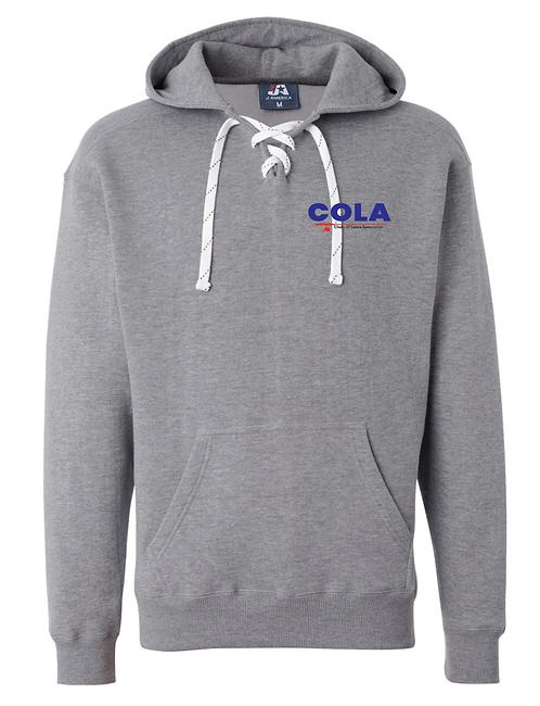 J. America - Sport Lace Hooded Sweatshirt - 8830 • oxford