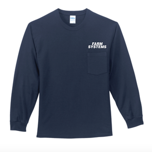 Port & Company® Tall Long Sleeve Essential Pocket Tee • PC61LSPT