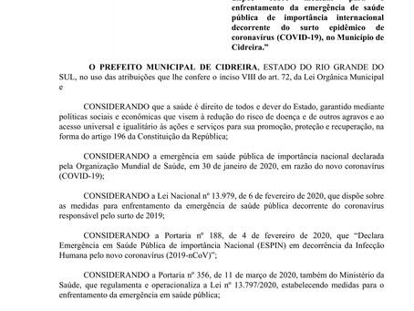 Decreto n° 029/2020