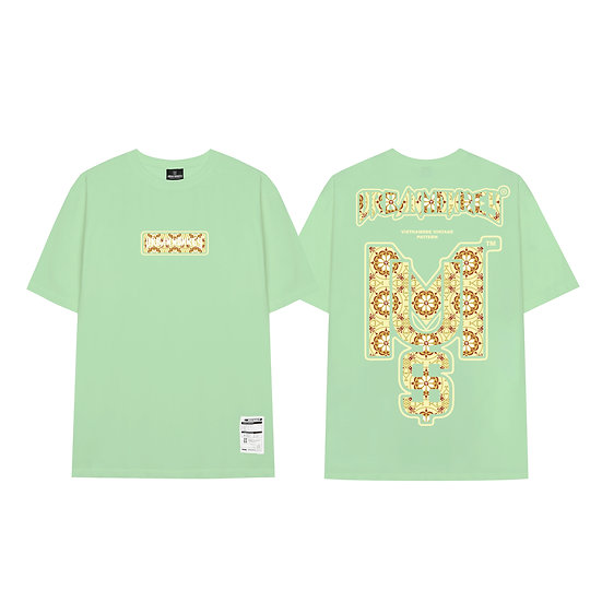 < Green Tiffany > Vintage Pattern Big Logo