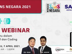 Cybertech Malaysia will be hosting Online Webinar for Minggu Sains Negara 2021