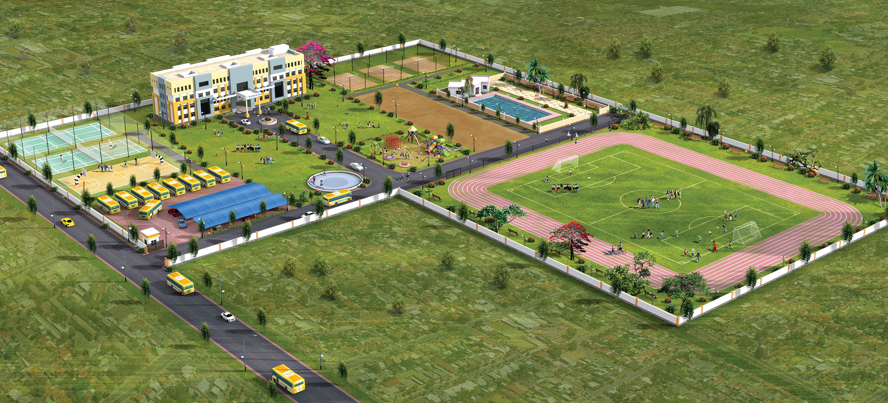 ARIAL VIEW OF CMR CAMPUS