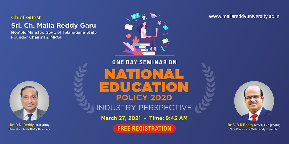 """One day seminar on """"NATIONAL EDUCATION POLICY 2020-Industry perspective"""""""
