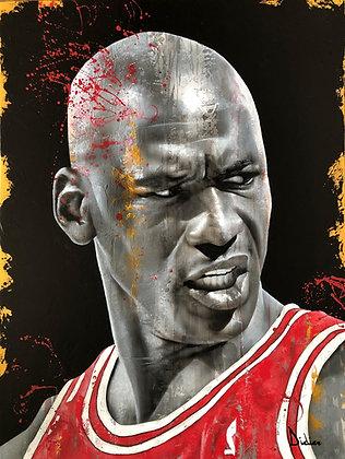 """""""Michael Jordan"""",  giclée sur TOILE, par DIDIER Artiste"""