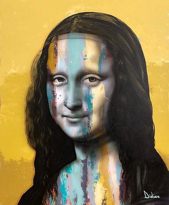"""""""La Joconde"""", giclée sur TOILE, par DIDIER Artiste"""