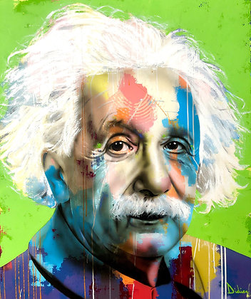 """""""Einstein"""", giclée sur TOILE, par DIDIER Artiste"""