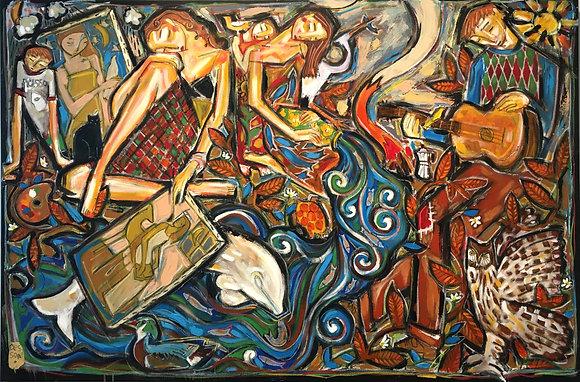 La peintre et la rivière