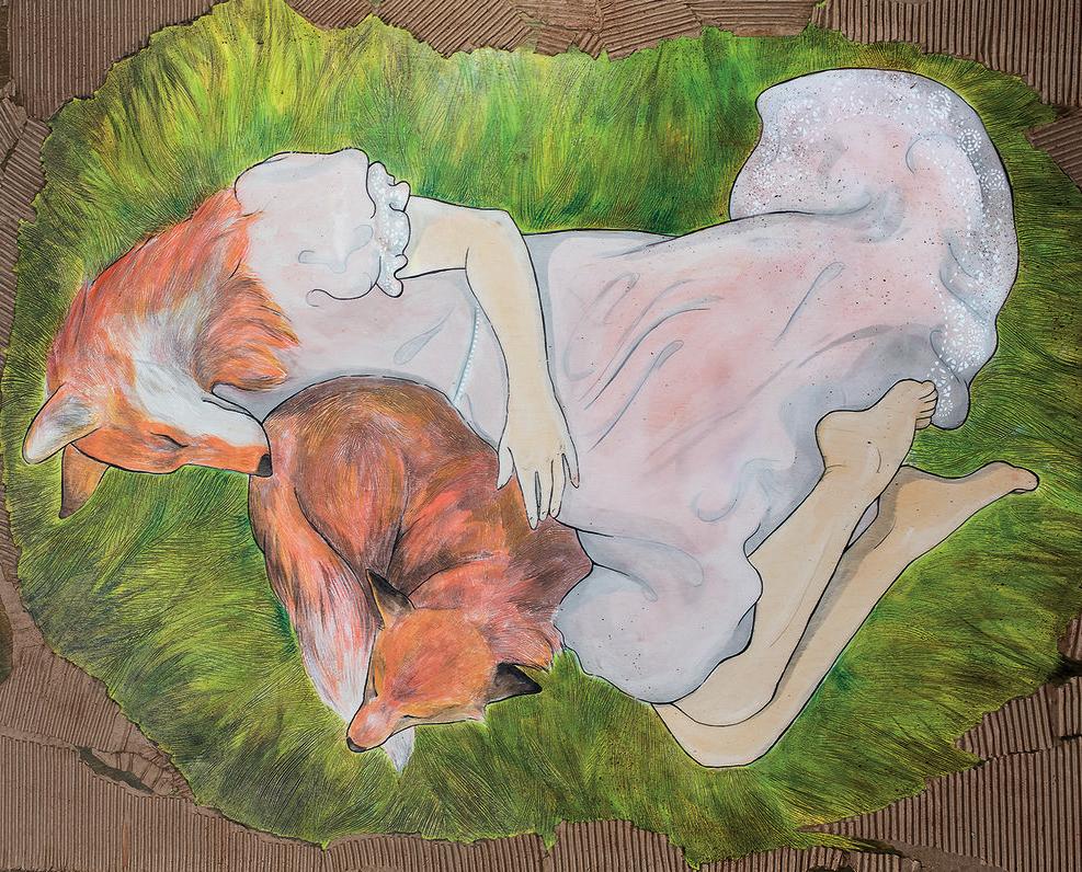 Renarde endormie, Marie-Hélène Pierr