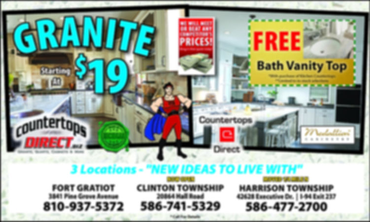 Free Granite Vanity top from Countertops Direct  586.477.2700
