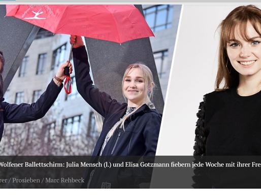"""MZ Artikel: """"Luca Vanak aus Bobbau - So fiebern die Freunde der Topmodel-Kandidatin vor dem TV mit"""""""
