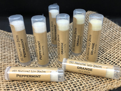 Natural Lip Balm- Orange
