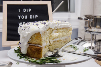 earl grey chiffon cake - with a side of birthday party