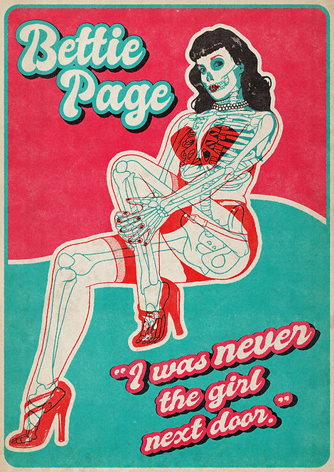 Bettie Page A4 print