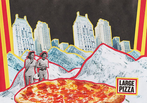 """""""LARGE PIZZA"""" collage"""