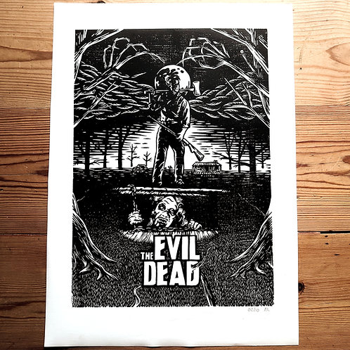 """The Evil Dead"" Linocut Print"