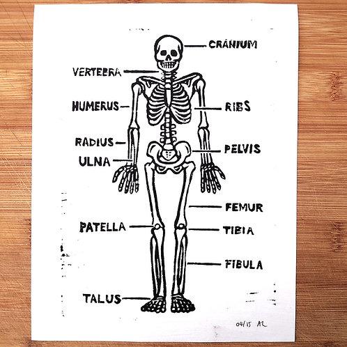 """Major Bones"" Linocut Print"