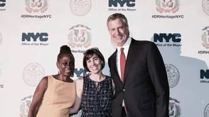 Con el Alcalde Bill de Blasio y la primera dama de la ciudad Chirlane McCray #DRHeritageNYC