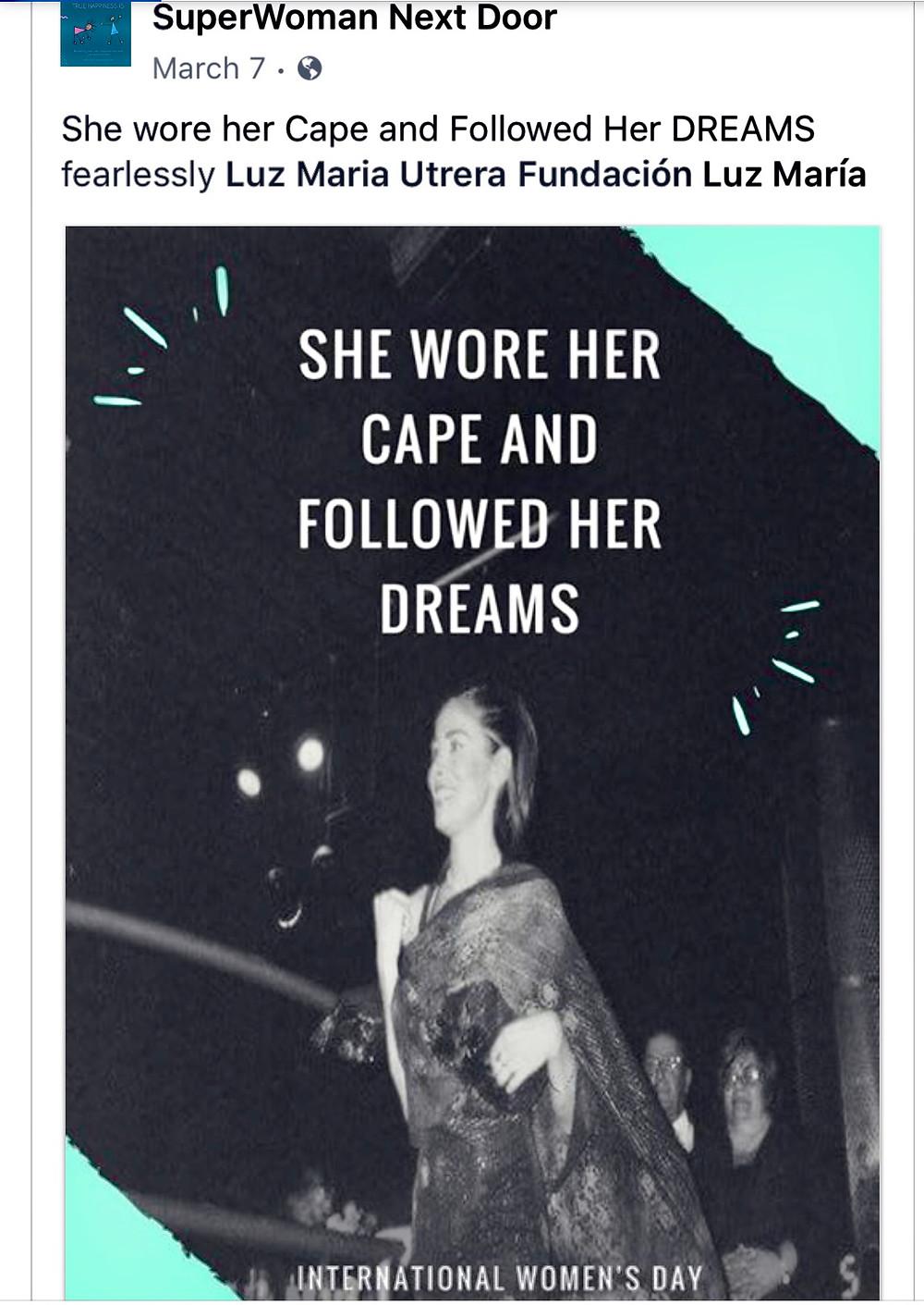 The Founder Luz Maria is a SuperWoman Next Door EN