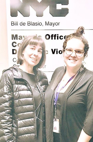 With Joscelyn Director of Program and Community Partnerships at Mayor's Office to Combat Domesti