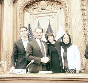 Día de las Naciones Unidas con el presidente emérito Gabriel Levitt, Manira Khalif 2017-2018 Observa