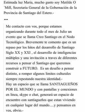 Cuando el Gobierno de tu provincia piensa en Vos! #CreoSantiago #NodoTecnologico