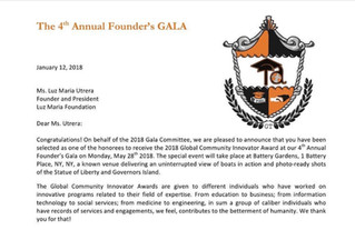 Our Founder is one of the Honoree!