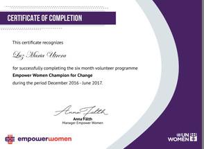 Campeona del Cambio en Naciones Unidas ONU Mujeres #Empower #Women #Champion for #Change #Global #Go