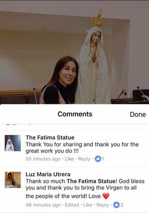 Con la Virgen de Fatima y la Mision de La Santa Sede en Naciones Unidas