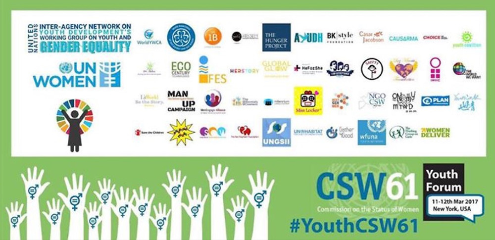 Fundacion Luz Maria in the Banner  #YouthCSW61