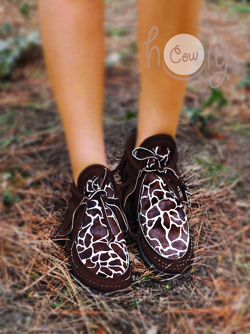 Brown Boots With Giraffe Print