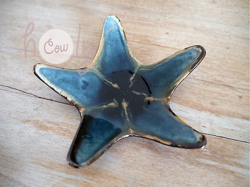 Handmade Ceramic With Glass Star Fish