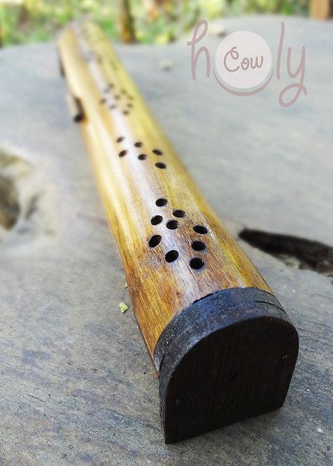 Bamboo Incense Box And Burner