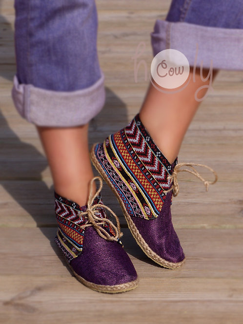 Tribal Vegan Ankle Boots