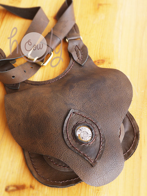 Brown Leather Belt Bag With Fossil