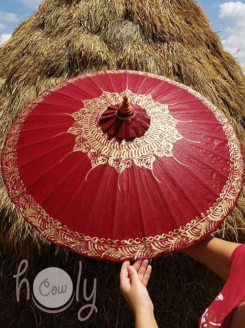 Red waterproof parasol/umbrella