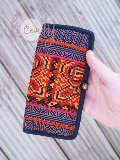 Vegan Tribal Purple And Orange Wallet