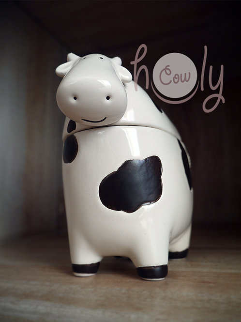Ceramic Cow Butter Dish with Lid