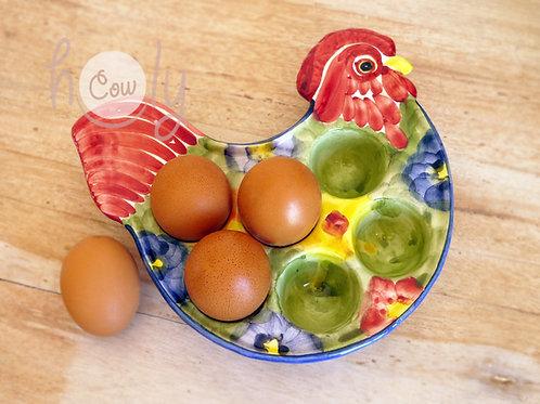 Colorful Ceramic Chicken Egg Holder