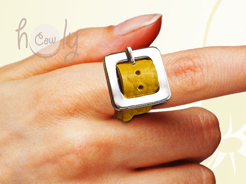 Adjustable Funky Leather Rings